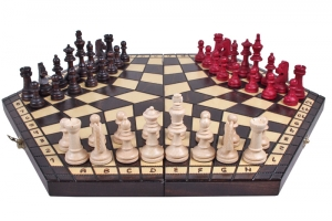 Three players chess sets