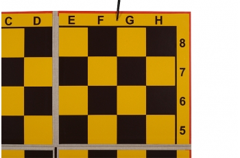 DEMO chessboard folding (in quarter), pieces included