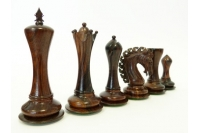 "EMPIRE EBONY 4"" chess pieces"