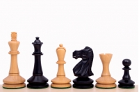"Blackmore Ebonised 3,75"" chess pieces"