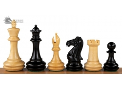"CHAMPFERED BASE EBONY 4"" chess pieces"
