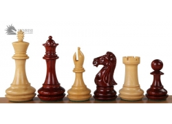 "CHAMPFERED BASE REDWOOD 4,25"" chess pieces"