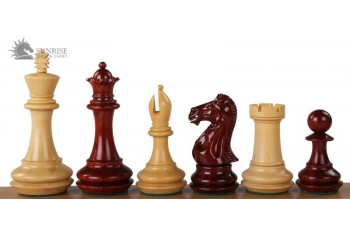 "CHAMPFERED BASE REDWOOD 4"" chess pieces"