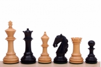 "Colombian Staunton Ebonised 4"" chess pieces"