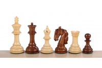 "Colombian Staunton Acacia/Boxwood 3,75"" chess pieces"
