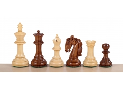 "Colombian Staunton Acacia/Boxwood 3,5"" chess pieces"