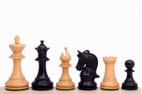 "Corinthian Ebonised 3,75"" chess pieces"