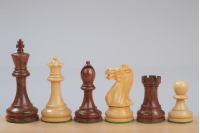 "Executive Acacia/Boxwood 3,5"" chess pieces"