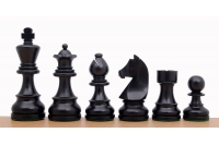 "German Knight Ebonised 3"" chess pieces"