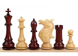"NAPOLEON KNIGHT REDWOOD 4,25"" chess pieces"