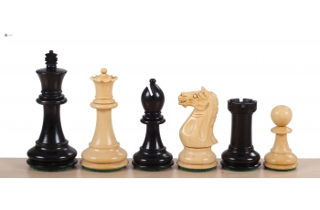 "Oxford Ebonised 4"" chess pieces"
