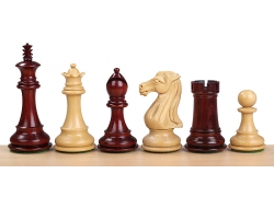 "ROYAL KNIGHT REDWOOD 4"" chess pieces"