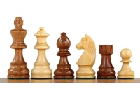 German Staunton Acacia/Boxwood chess pieces 3,5'' double queen