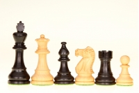 Classic Ebonised chess pieces 3,5 inches