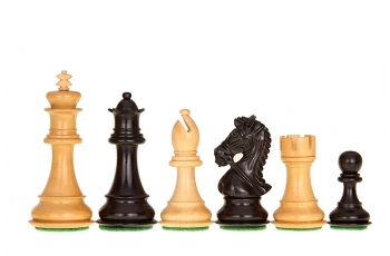 Kings Bridal Ebonised 3,75'' chess pieces