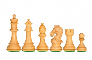 Kings Bridal Acacia/Boxwood 4'' chess pieces