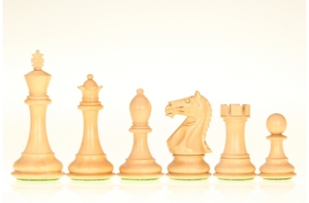 Supreme Ebonised chess pieces 4''