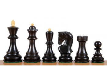 Zagreb Ebonised chess pieces 4''