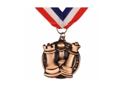 Chess Award - Round Medal Silver