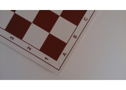 "Vinyl Vintage Folding Chess Board 20""(51cm) RED"