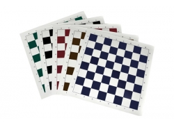 Vinyl roll-up chess board, white/black