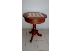 Chess table De Lux (without pieces)/ Round table / total height: 77 cm