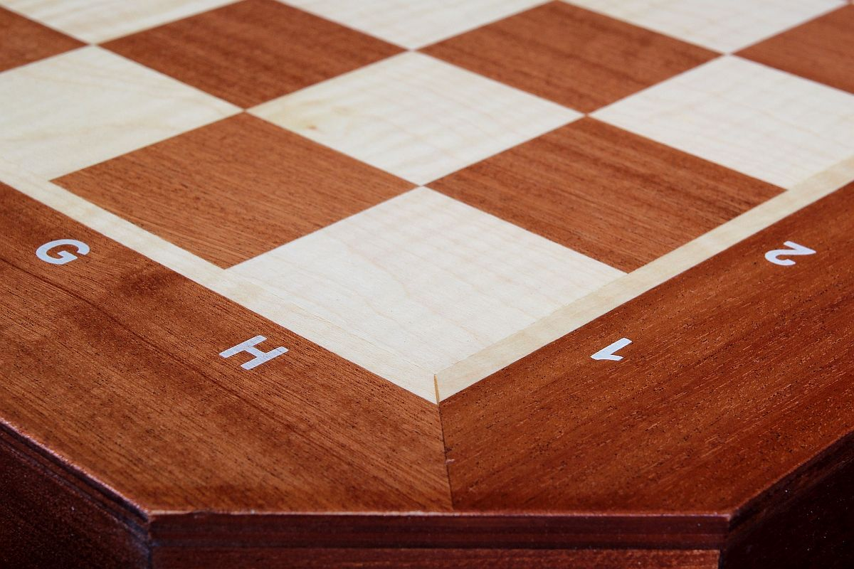 Chess Table De Lux Without Pieces Carved Total Height 74 Cm