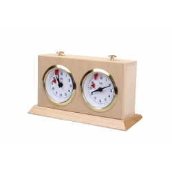 Wooden BHB chess clock with stand – SMALL