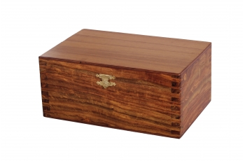 HINGE TYPE BOX golden rosewood
