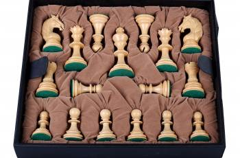 LEATHER BOX CHESS PIECES 4,5