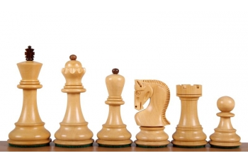 Zagreb Acacia/Boxwood chess pieces 3,75''