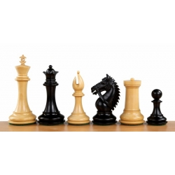 "MADE IN AMERICA KNIGHT EBONY 4,25"" chess pieces"