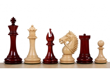 "MADE IN AMERICA KNIGHT REDWOOD 4"" chess pieces"
