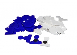 MAGNETIC PIECES for DEMO chessboard white/blue