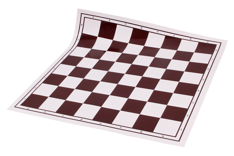 """Wholesale Chess 20/"""" Tournament Vinyl Roll-Up Chess Board Blue"""