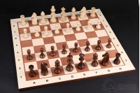 CHESSBOARD No 5 MAHOGANY/SYCAMORE LIGHT with NOTATION