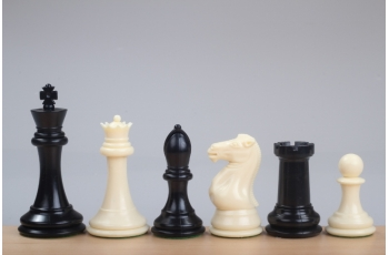 "Chess Pieces Plastic 4""(102mm) weighted"