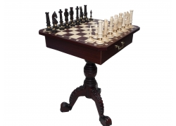 Chess table + chess pieces /total height: 75cm/king 130mm