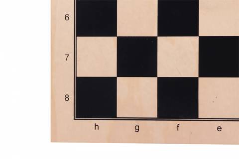 Double sided: chess + MILL (9 MEN's MORRIS), sycamore, black PRINT