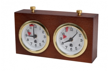 Wooden BHB chess clock without stand – DARK SMALL