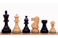 "Classic Ebonised 3"" chess pieces"