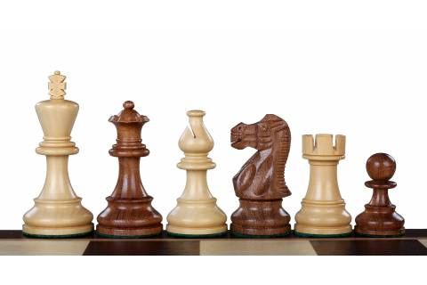 "Classic Acacia/Boxwood 3,5"" chess pieces"
